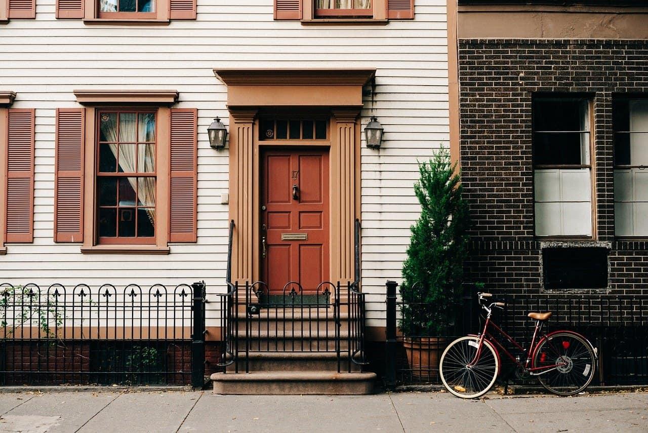 front door sidewalk view